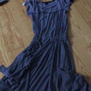 Gray cotton Marc Jacobs midi dress